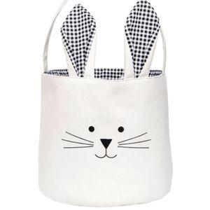 🐾3/40$ 🐾Gingham Black & White Bunny Basket  🆕️NWT🆕️